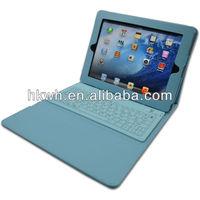 New Factory Leather Bluetooth Keyboard Flip Portfolio PU Case for ipad2/3/4 ipad Air 2