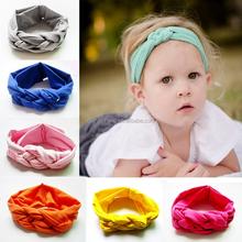 2015 new design baby knot headband cotton baby headband knitted headband