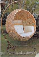 Half ball round garden swing lounge chair/High quality Rocking chair