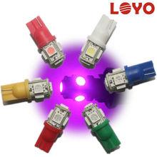 Auto t10 5 led 5050 smd Car LED Reverse/Brake/Dome/Trunk 12V Car Lamp t10 LED Wedge Bulb