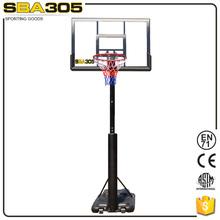 adjustable inground basketball hoop system
