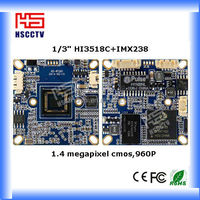 "High Definition 1/3"" HI3518C WDR Network IP Camera module"