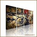 Abstracta moderna lienzo dividido pinturas con salpicaduras