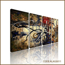 Abstract modern split canvas paintings with splash