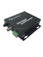 High quality 1ch fiber optic video converter/fiber optical products 1Ch Video +1 Audio+1 Data Digital Optical Transmitter/Receiv