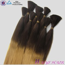 Top quality remy virgin hair straight and wavy 24 inch indian remy curl hair bulk
