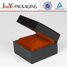 Black square sturdy velvet fabric for decorative PU jewelry box