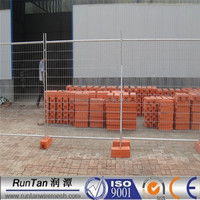 ISO9001 anping hot dipped galvanized temporary fencing for sale