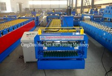 china supplier new products HC18-28 two profile panel metal roof sheet double layer roof tile making machine for sale