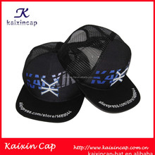 design your own logo 3d embroidery and digital print men trucker mesh caps