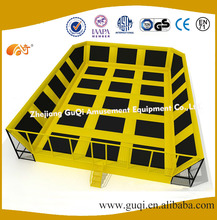 Safety adult commercial big cheap indoor trampoline park GQ-BC-3017