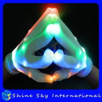 Top Level Top Sell Led Vibrator Sex Gloves