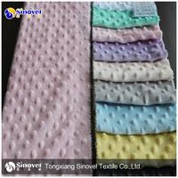 High Quality Super Soft Short Pile Fleece Fabric with Dot