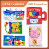 HX104-3 customized animal plush cloth book ,educational toys