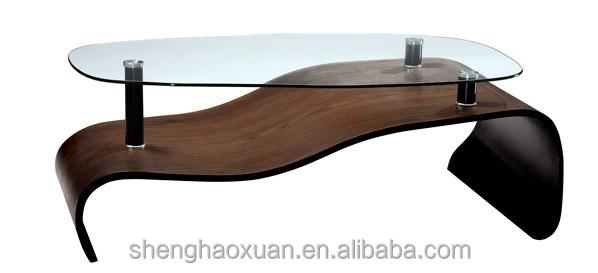 Modern design wooden tea table design 7404 center table for Latest wooden center table designs