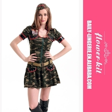2015 New Arrival sexy soldier costumes,army officer uniform,halloween costume for women