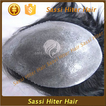 Virgin Indian hair men's hairpieces stock full lace base closure for all men