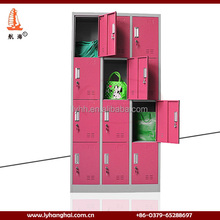 China Suppliers Red Color Steel Storage Cupboards Clothes Cabinet Metal School Lockers/Foot Locker