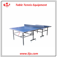 Outdoor Foldable Tennis Table With Wheel,ACP Adjustable Table Tennis Table,Single Folding ITTF Table Tennis For Sale