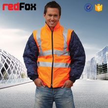 wholesale waterproof high visibility safety snap on jacket for men