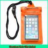 Custom orange small pvc bag waterproof for cell phone
