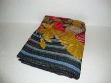 Traditional Handmade Indian ikat Kantha Reversible Quilt Pure Cotton Made Quilt / Blanket / Throw Bedspread ALIKQ415