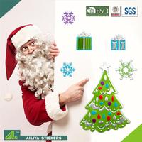 Top sale repositionable custom decorative design christmas wholesale fashion vinyl wall sticker