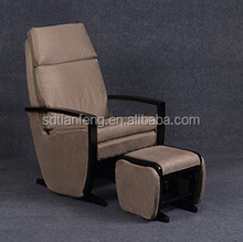 2015 Deluxe Living-room Sofa Chair with Footstool Antique Black