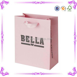 wholesale promotional boutique logo printed recyclable reusable foldable custom made cheap paper shopping bags