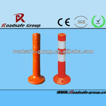 Highway manufacture flexible Spring Post Base and Bollard PU road reflective sign post guide post