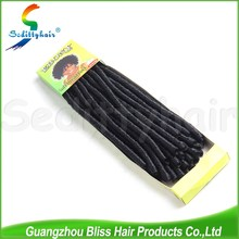 Alibaba china wholesale syntetic hair soft dread hair/guangzhou supplier ebony soft dread lock synthetic braiding hair