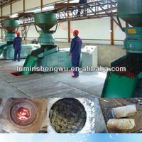 Machine to make wood briquettes