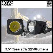Motorcycle 3.5inch 25W 2250Lumens 12V C ree LED Driving Lights for Christmas