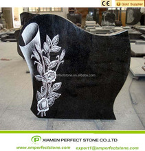 China Black Granite High Quality Tombstones For Sale