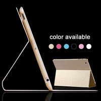 Supper slim PU leather case for ipad2/3/4