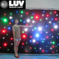 LED star curtain factory sales directly , full color , red , blue ,white