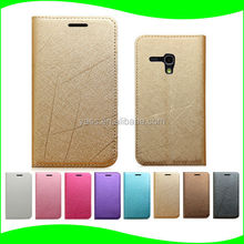 China supplier cell phone slim protective flip cover pu flip leather shockproof case for samsung galaxy s3 mini