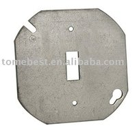 Round metal outlet box Covers