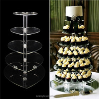 5 or 6 tiers Clear Acrylic Cake Stands Display,Acrylic Cupcake stand