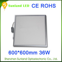 High quality suspended 36w CE ROHS passed SMD3014 silver 220v led panel light