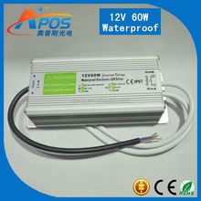 Meanwell 12V 60W 5A Single Output Waterproof Switching Power Supply IP67 Constant Voltage Design