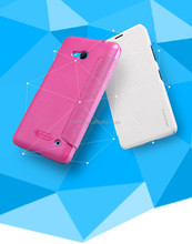Nillkin Mobile phone case for lumia 640 Sparkle Flip leather plastic back cover Case