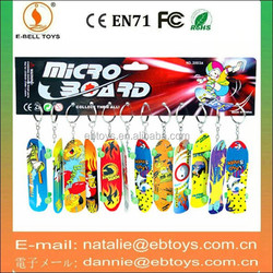 Plastic finger skateboards toy with keychain