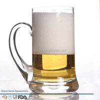Sanzo Custom Glassware Manufacturer 16oz advertising beer glasses