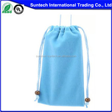 wholesale large black drawstring custom velvet bag for gifts