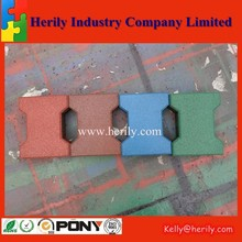 Dogbone paver safety garage rubber tile