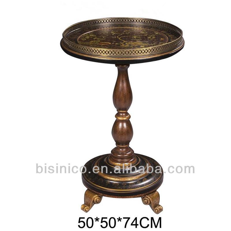 Vintage style anglais en bois petite table ronde avec de for Petite table ronde bois