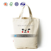 2015 China Factory directly wholesale oem production Customized 100% blank cotton tote bag for promotion show