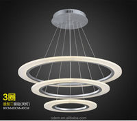 New design hot selling modern fashion simplestyle led pendant light three layers drop light hanging wire adjusted freely