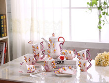 STXJ013 High Quality China Beautiful Disposable Coffee Cup Tea Cups and Saucer Set